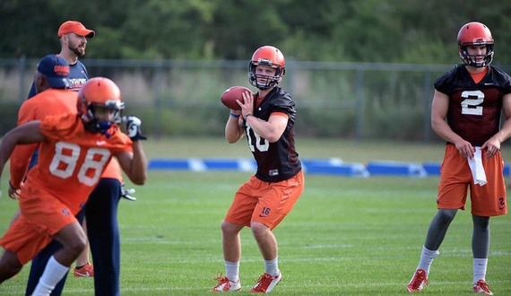Syracuse football quarterback Zack Mahoney earns scholarship